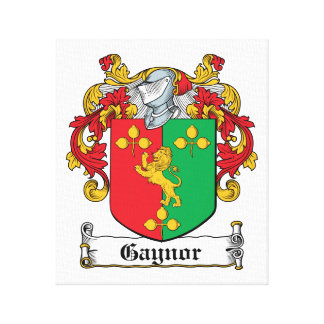 Escudo de la familia de Gaynor Impresión En Lona Estirada