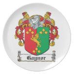 Escudo de la familia de Gaynor Platos