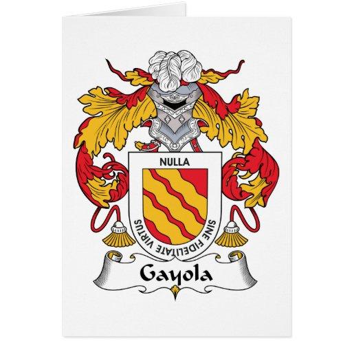 Escudo de la familia de Gayola Tarjeta De Felicitación