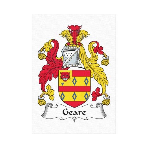 Escudo de la familia de Geare Lona Envuelta Para Galerías