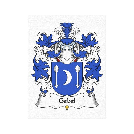 Escudo de la familia de Gebel Impresión En Tela
