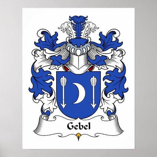 Escudo de la familia de Gebel Impresiones