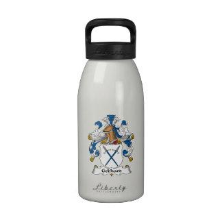 Escudo de la familia de Gebhard Botellas De Agua Reutilizables
