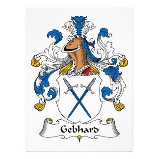 Escudo de la familia de Gebhard Anuncio Personalizado