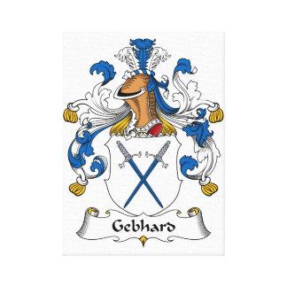Escudo de la familia de Gebhard Lienzo Envuelto Para Galerias