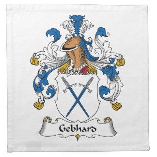 Escudo de la familia de Gebhard Servilletas Imprimidas