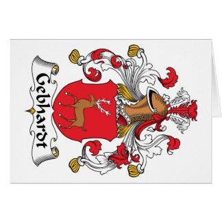 Escudo de la familia de Gebhardt Felicitación