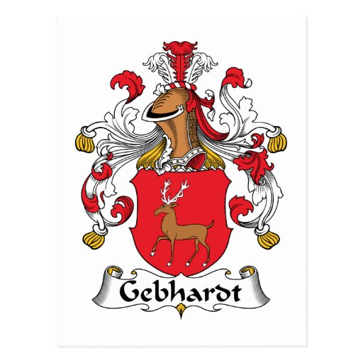 Escudo de la familia de Gebhardt Postales