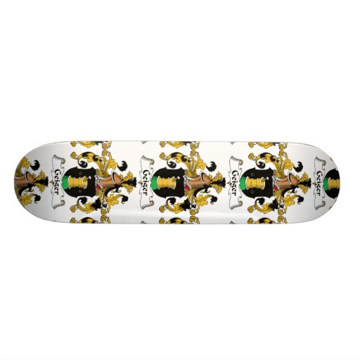 Escudo de la familia de Geiger Tabla De Skate