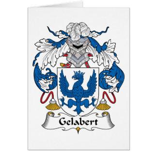 Escudo de la familia de Gelabert Felicitacion