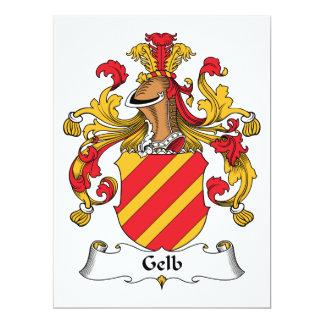"""Escudo de la familia de Gelb Invitación 6.5"""" X 8.75"""""""