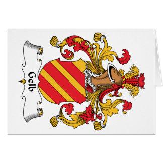 Escudo de la familia de Gelb Tarjeta De Felicitación