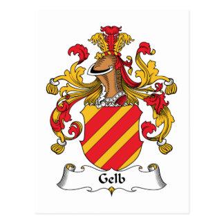 Escudo de la familia de Gelb Tarjeta Postal
