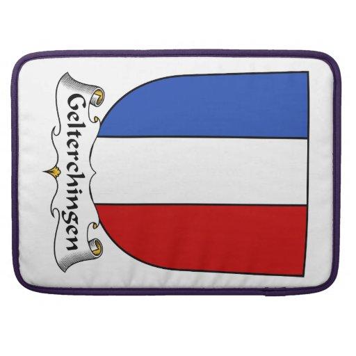 Escudo de la familia de Gelterchingen Funda Para Macbook Pro