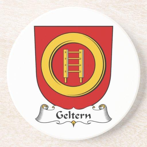 Escudo de la familia de Geltern Posavasos Personalizados