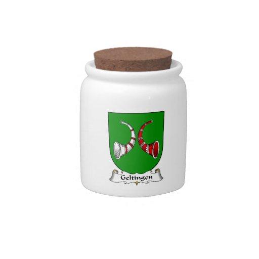 Escudo de la familia de Geltingen Platos Para Caramelos