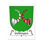 Escudo de la familia de Geltingen Impresión En Lona
