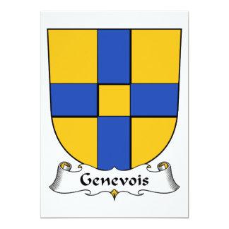 """Escudo de la familia de Genevois Invitación 5"""" X 7"""""""
