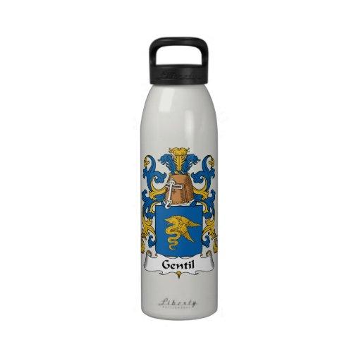 Escudo de la familia de Gentil Botellas De Beber