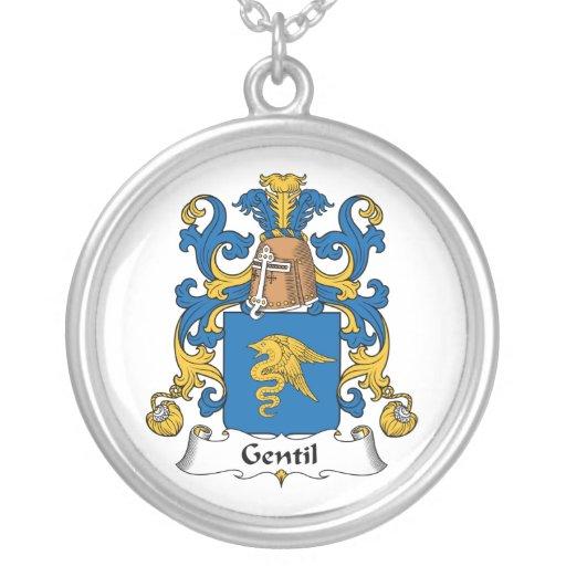 Escudo de la familia de Gentil Collar Personalizado