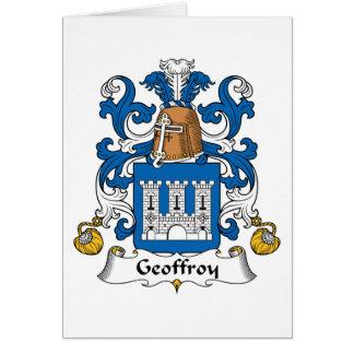 Escudo de la familia de Geoffroy Felicitación