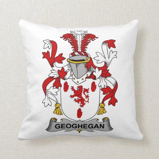 Escudo de la familia de Geoghegan Almohadas