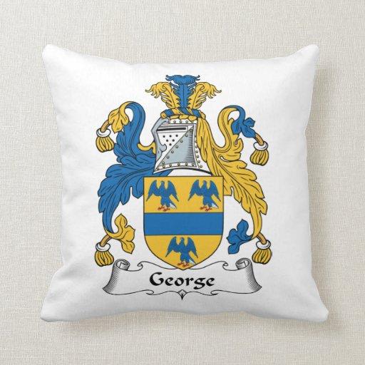 Escudo de la familia de George Cojín Decorativo