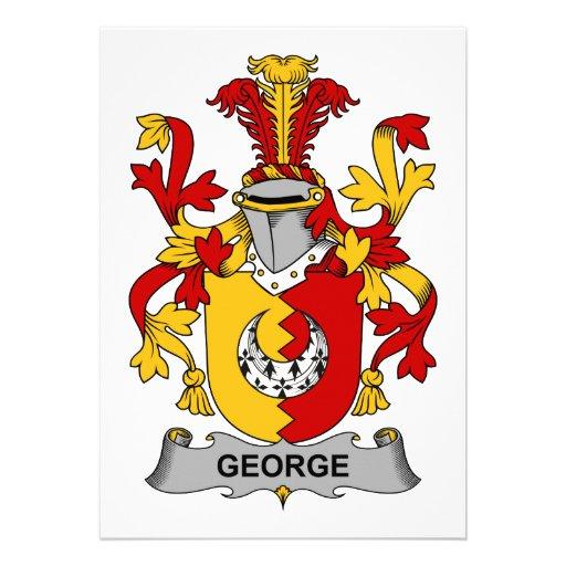 Escudo de la familia de George Invitaciones Personales