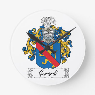 Escudo de la familia de Gerardi Relojes De Pared