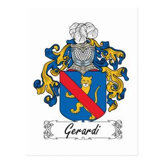 Escudo de la familia de Gerardi Tarjeta Postal