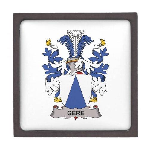 Escudo de la familia de Gere Caja De Recuerdo De Calidad