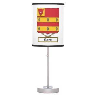 Escudo de la familia de Gere Lámpara De Mesilla De Noche