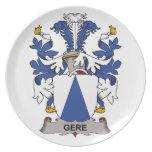 Escudo de la familia de Gere Platos