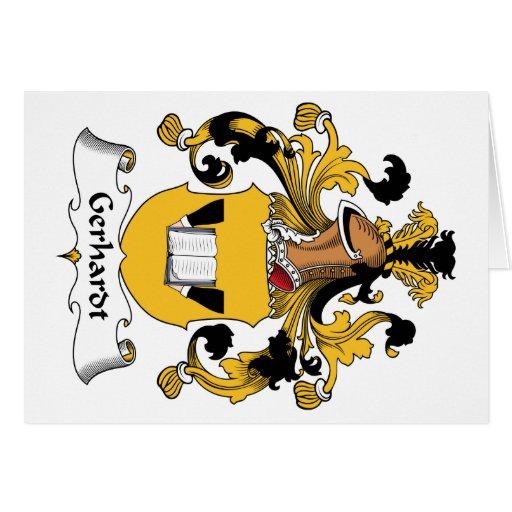Escudo de la familia de Gerhardt Tarjeta De Felicitación