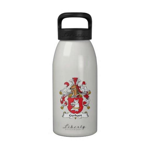 Escudo de la familia de Gerhart Botellas De Beber