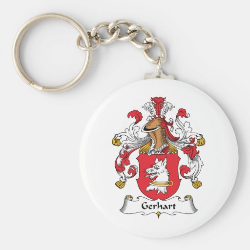 Escudo de la familia de Gerhart Llaveros Personalizados