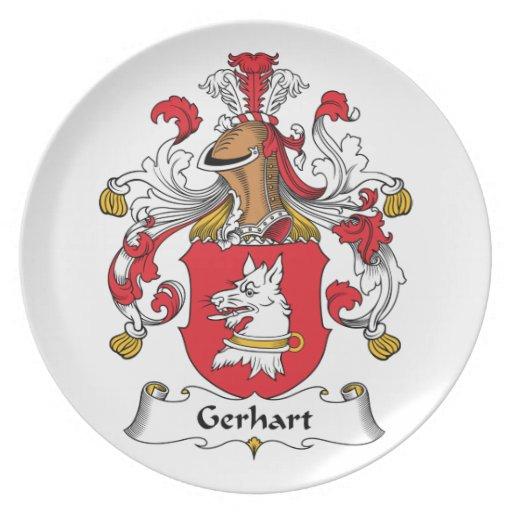 Escudo de la familia de Gerhart Plato Para Fiesta