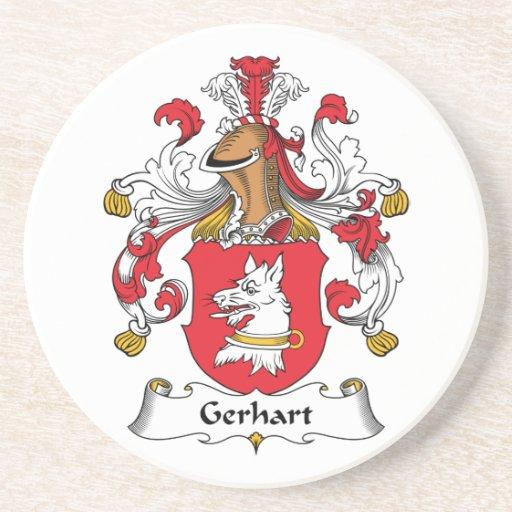 Escudo de la familia de Gerhart Posavasos Personalizados