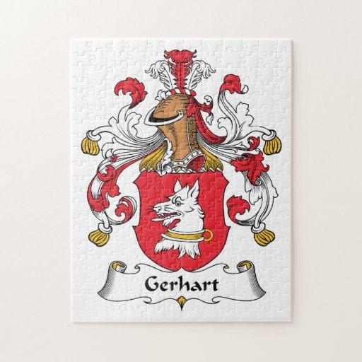 Escudo de la familia de Gerhart Rompecabeza Con Fotos