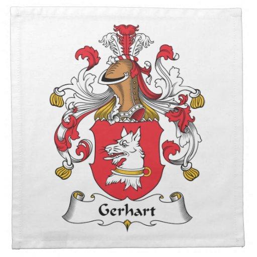 Escudo de la familia de Gerhart Servilletas De Papel