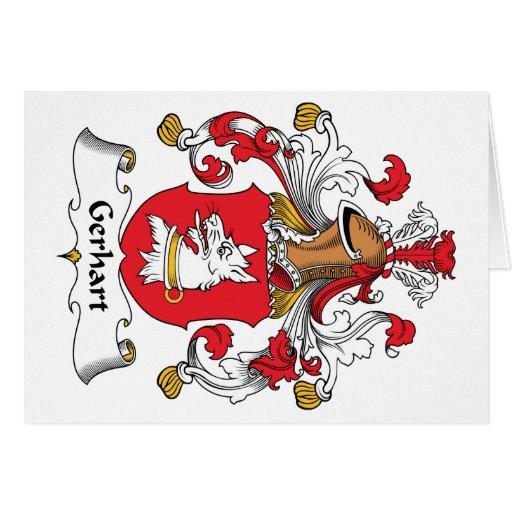 Escudo de la familia de Gerhart Tarjetas