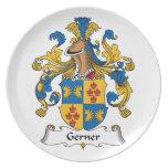 Escudo de la familia de Gerner Plato De Cena