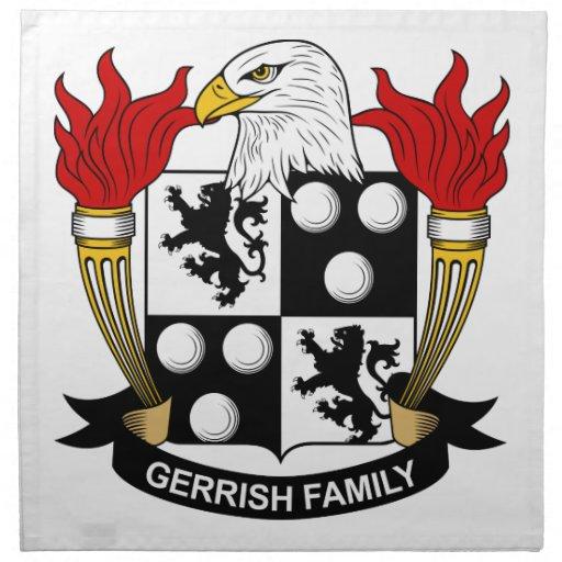 Escudo de la familia de Gerrish Servilleta