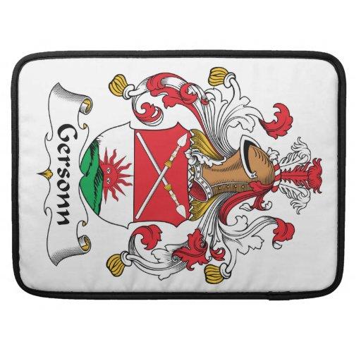 Escudo de la familia de Gersonn Fundas Para Macbooks