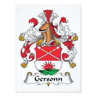 Escudo de la familia de Gersonn Comunicados Personalizados