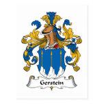 Escudo de la familia de Gerstein Tarjeta Postal