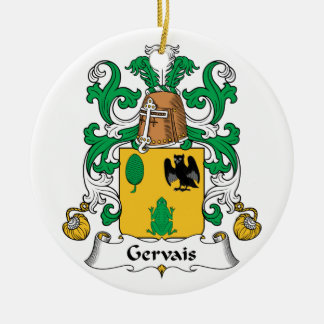 Escudo de la familia de Gervais Adorno Navideño Redondo De Cerámica