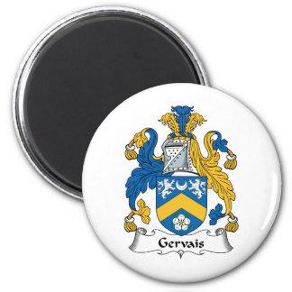 Escudo de la familia de Gervais Imán Redondo 5 Cm