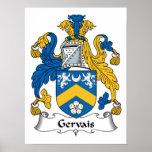 Escudo de la familia de Gervais Impresiones