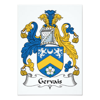 """Escudo de la familia de Gervais Invitación 5"""" X 7"""""""